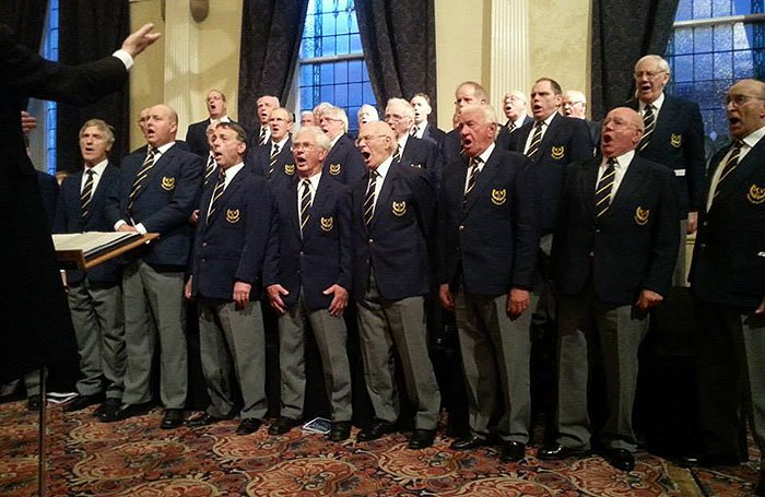 Chapel Male voice Choir in full voice