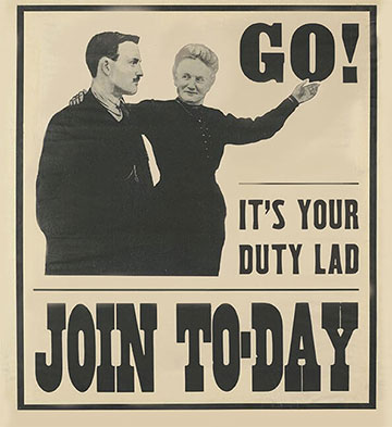 WW1 enlistment poster
