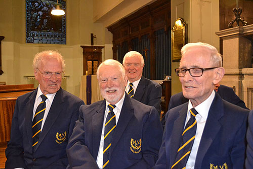 Chapel Male Voice Choir members getty ready to perform